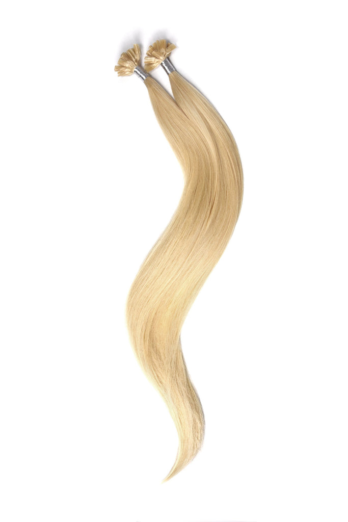Nail Tip / U-Tip Pre-bonded Remy Human Hair Extensions - Light Ash Blonde (#22) U-TIP Straight Pre-bonded Hair Extensions cliphair