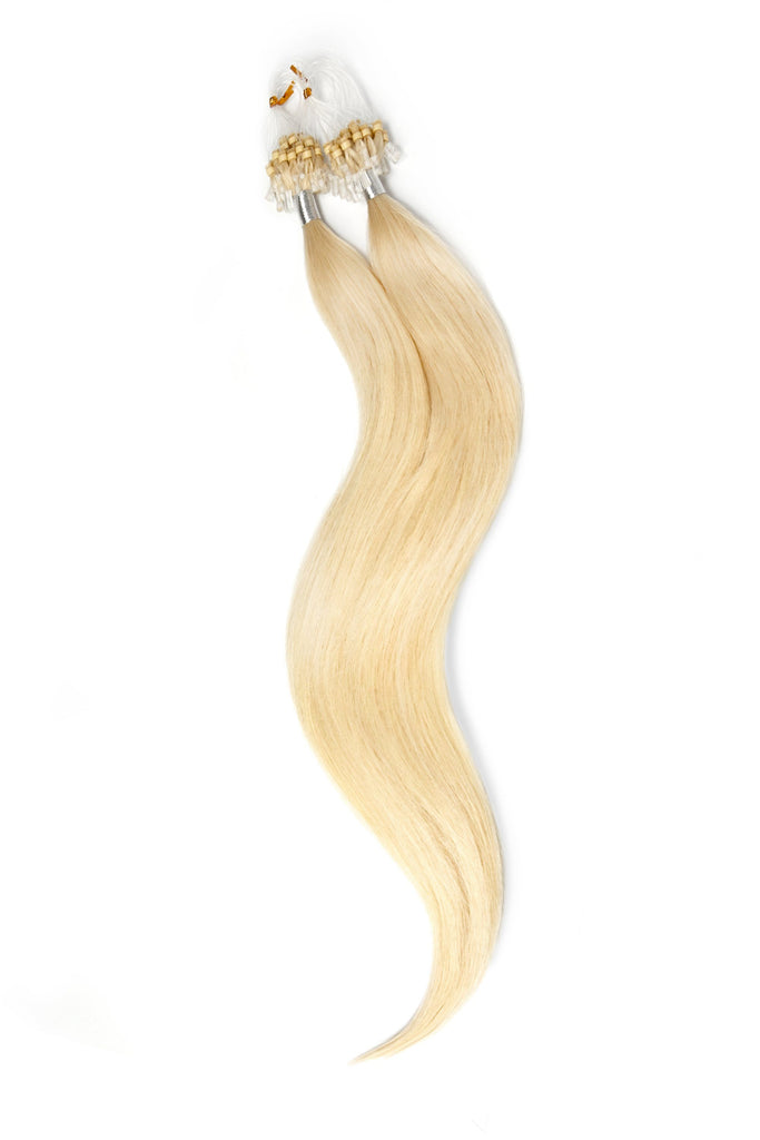 Micro Ring Loop Remy Human Hair Extensions - Lightest Blonde (#60)
