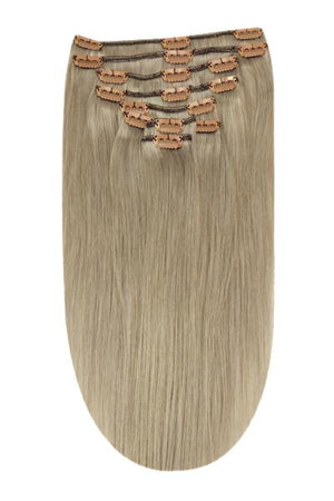 Full Head Remy Clip in Human Hair Extensions - Silver Sand (#SS)