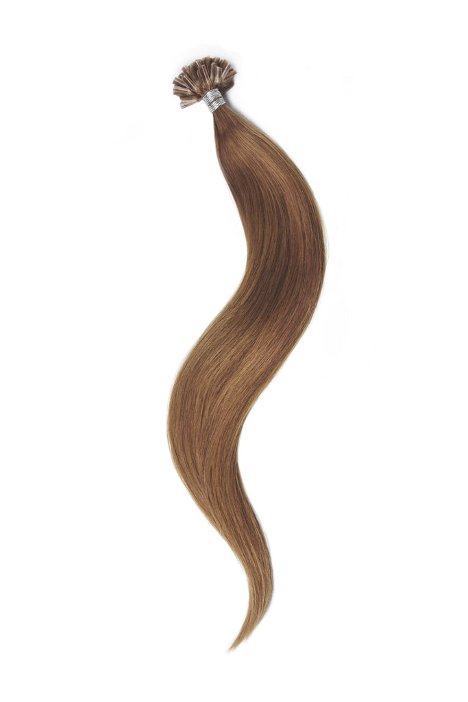 Nail Tip / U-Tip Pre-bonded Remy Human Hair Extensions - Light Auburn (#30) U-TIP Straight Pre-bonded Hair Extensions cliphair