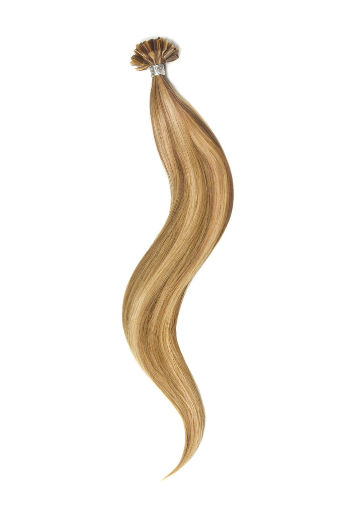 Nail Tip / U-Tip Pre-bonded Remy Human Hair Extensions - Medium Golden Brown/Golden Blonde Mix (#10/16)