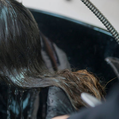 step 5 - rinse hair extensions