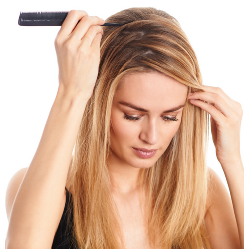 parting you hair to add volume