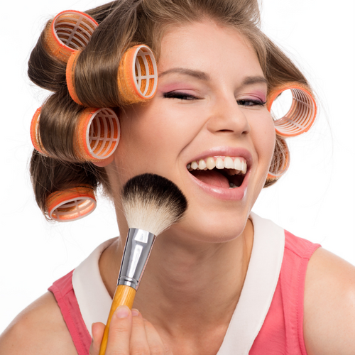using rollers for hair volume