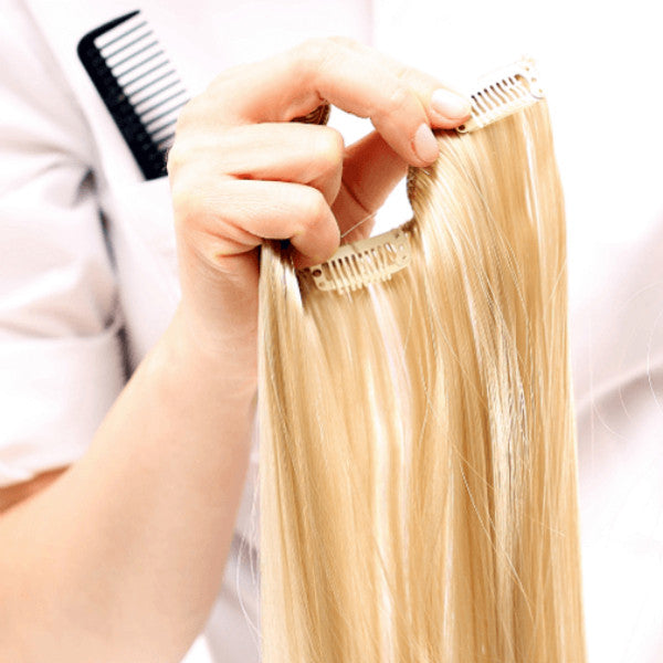 clip ins from a hair weft