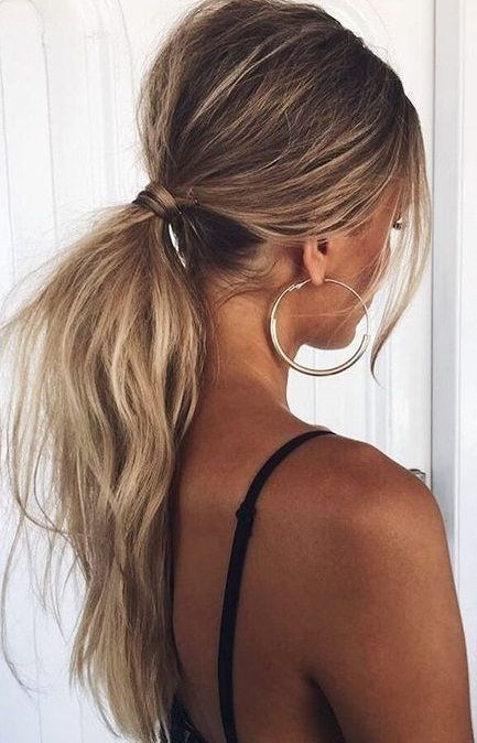 Low Ponytail Extension Hair Style