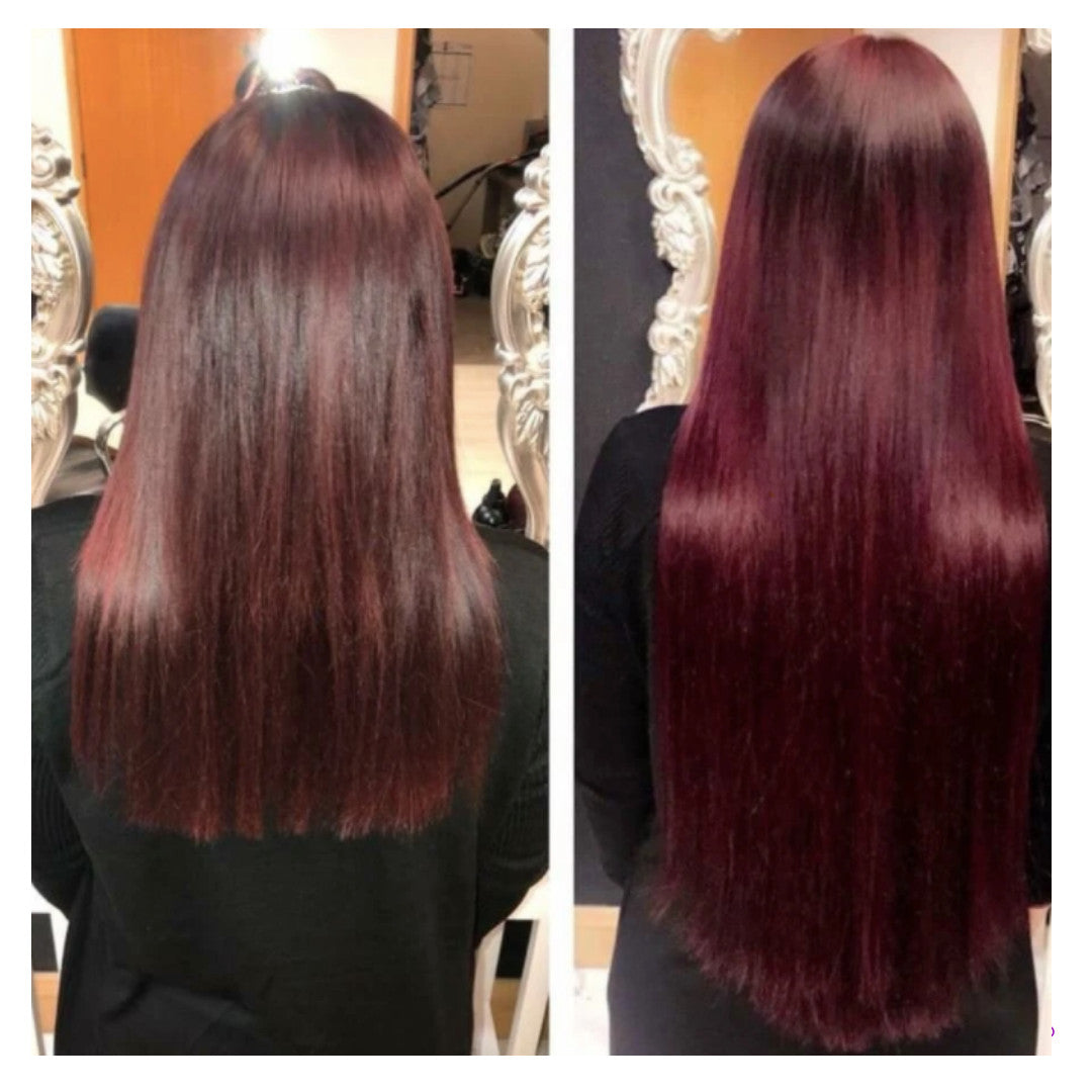 Mahogany Red/ Deep Wine Ginger Human Hair Extensions (#99J)