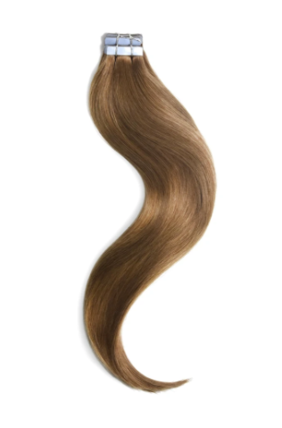 Tape in Remy Human Hair Extensions Light Auburn (#30)