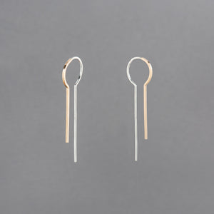 HOLLOWBODY PULL THROUGH EARRING