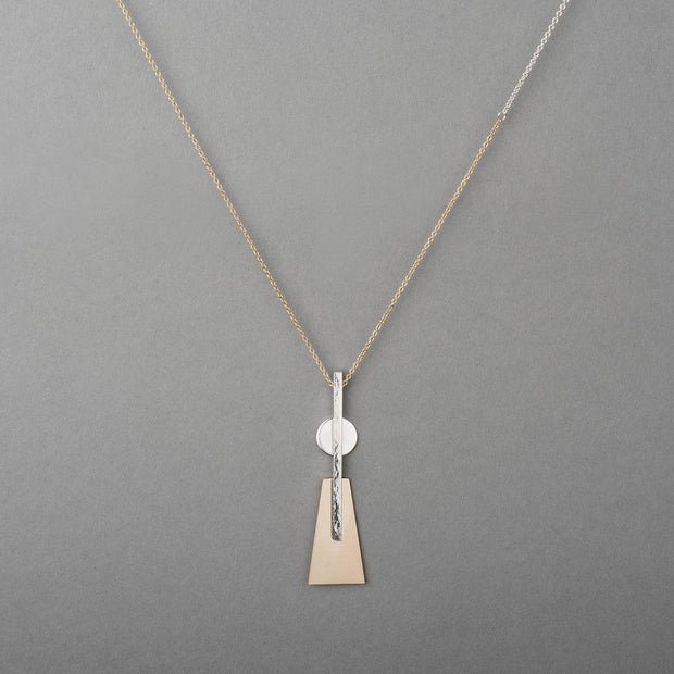 MOONTOWER TWO-TONE NECKLACE 1