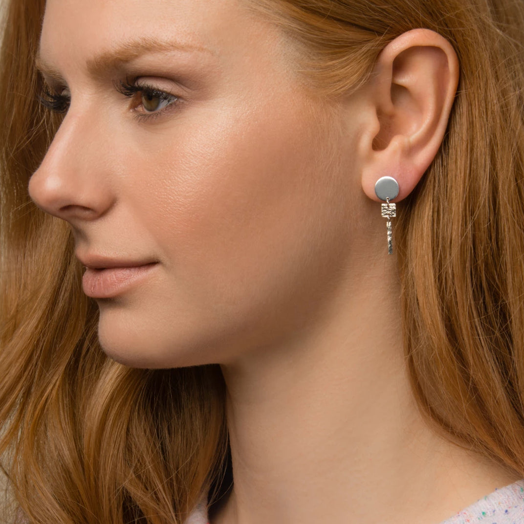 ZILKER TWO-TONE EARRING