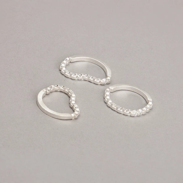 CHAIN STACK RING 1