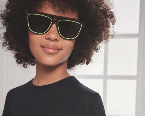 cool kid wearing fashion sunglasses