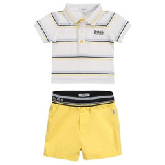 boss baby yellow polo and shorts