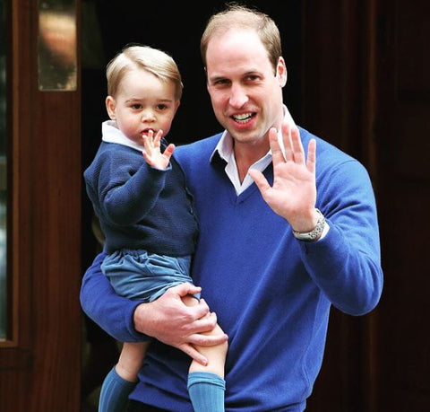 prince george and william wearing shirts with jumpers