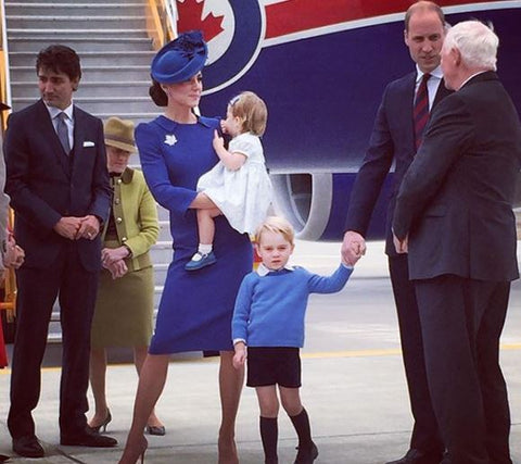 prince george wearing pale blue outfit