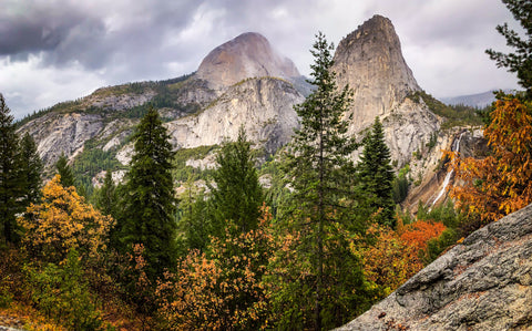 Yosemite Half Dome in Fall iPhone Photography