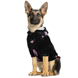 Pink Floral Dog Adventure Hoodie Zip Pet Performance Sweater Hiking Pets