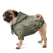 Fern Grass Dog Adventure Hoodie Flora Zip Pet Performance Sweater Hiking Pets