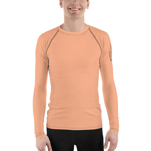 Orange Opt Outside Unisex Rash Guard - Hike Swim Climb Sun Shirt