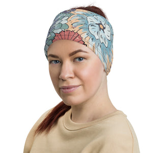 Bohemian Floral Neck Gaiter Headband Face Shield