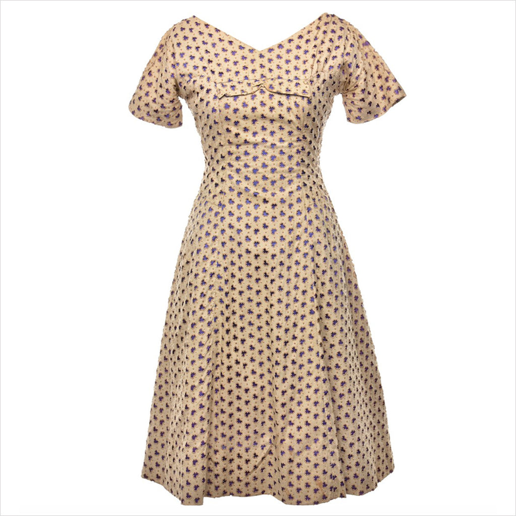 1960s LIGHT BROWN DRESS