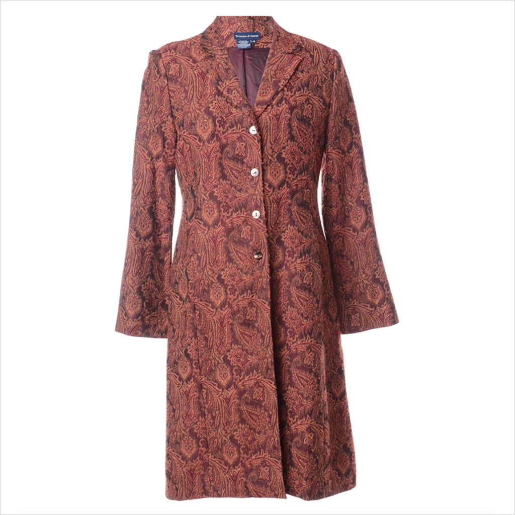 1990s Paisley Pattern Coat - M