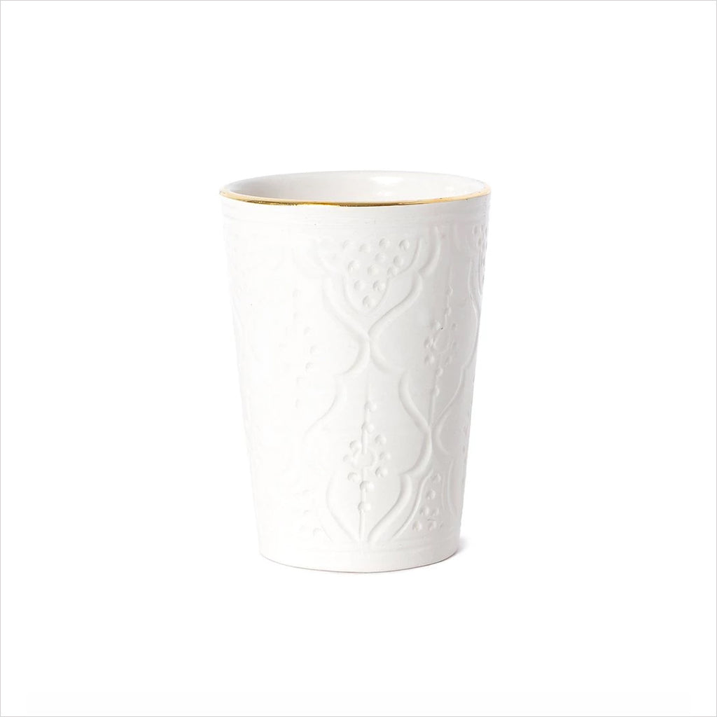 CERAMIC CUP - WHITE & GOLD