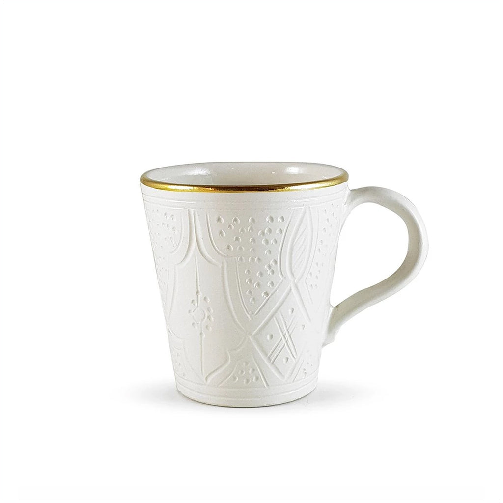 CERAMIC MUG - WHITE & GOLD