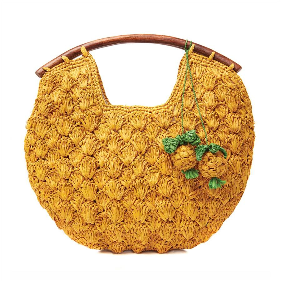 RAFFIA CLUTCH - ISLA SUNFLOWER