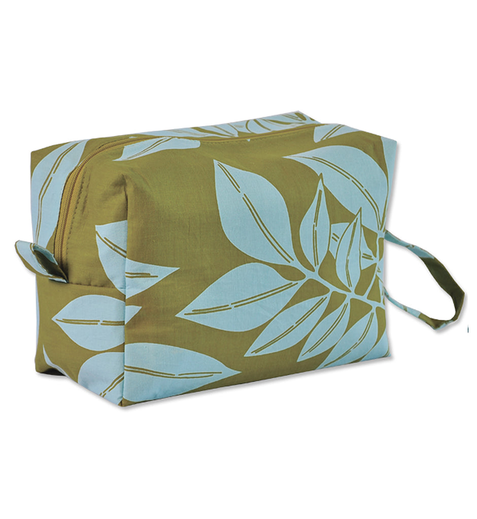 LARGE COSMETIC CASE - SEAFLOWER OLIVE