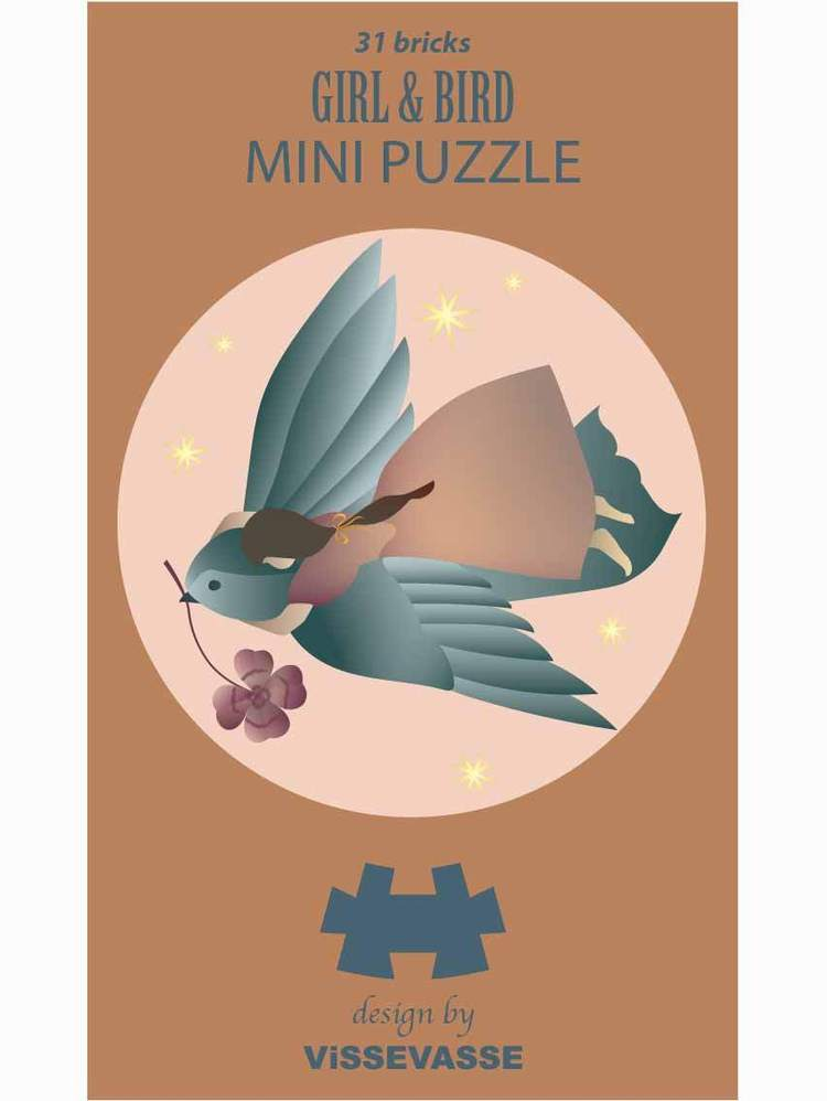 GIRL & BIRD - mini puzzle