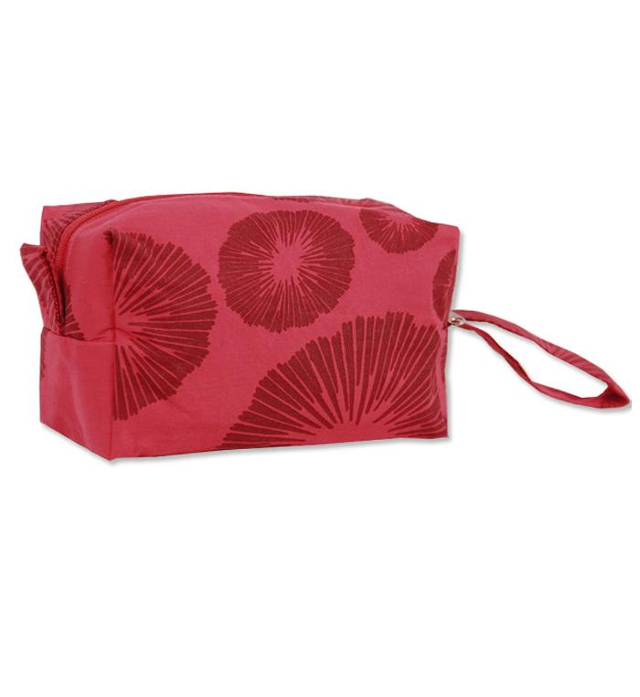 SMALL COSMETIC CASE - SEAFLOWER RED