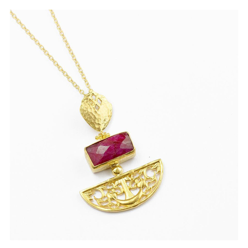 Artemis Ruby Pendant Necklace