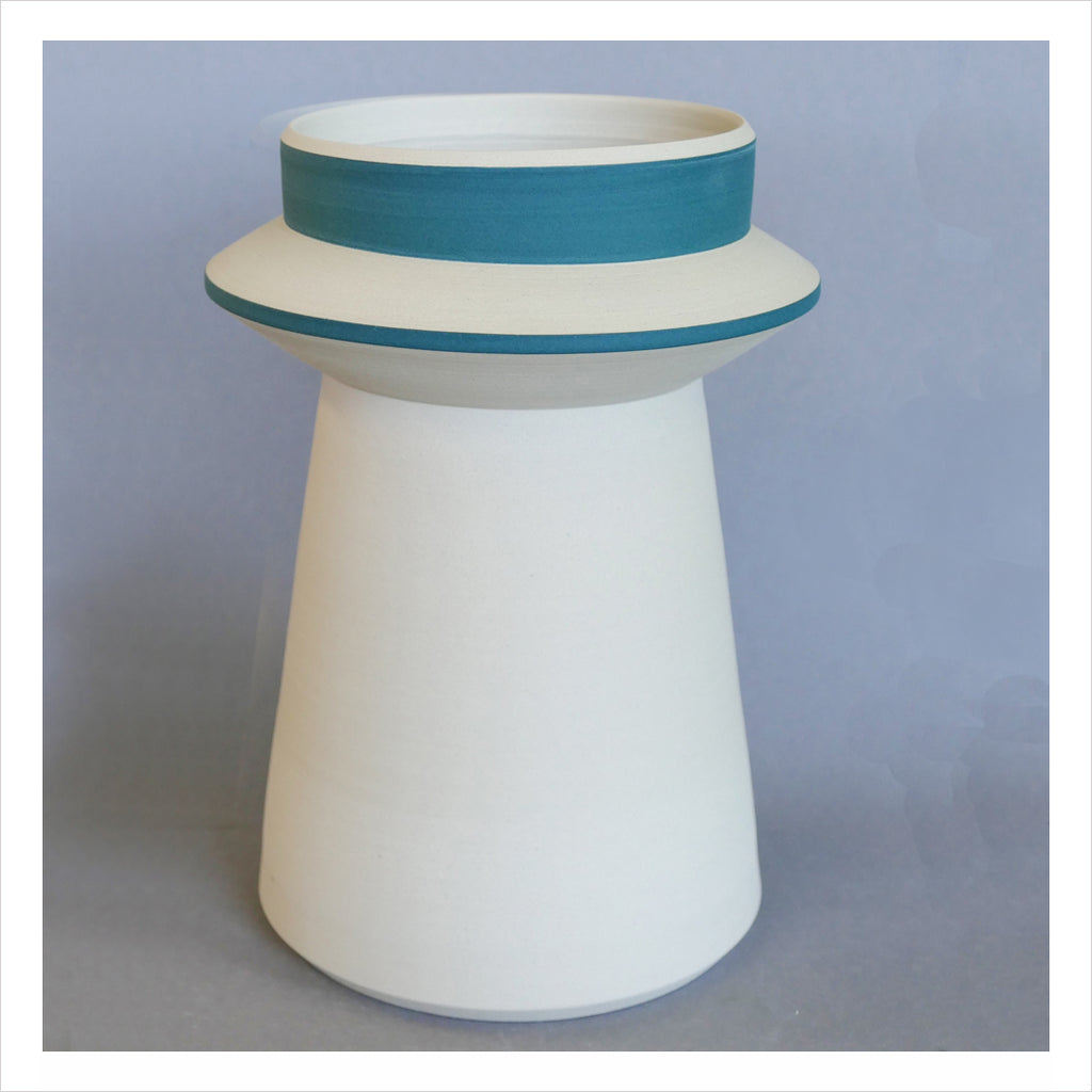 CERAMIC VASE - FRENCH BLUE