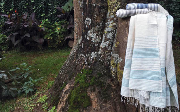 ETHIOPIAN COTTON BATH TOWEL - ICE BLUE
