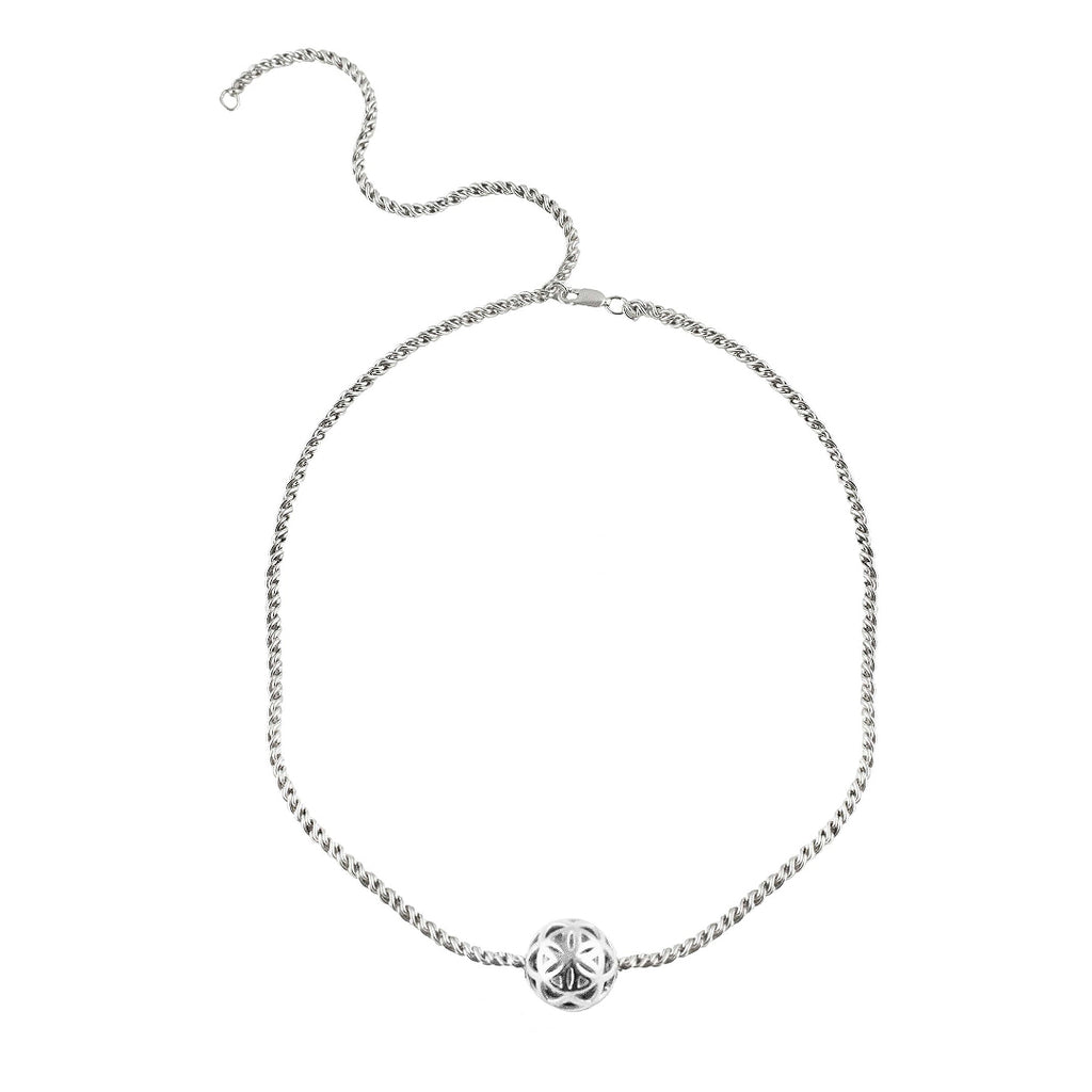 SPHERIC SEED OF LIFE CHOKER NECKLACE