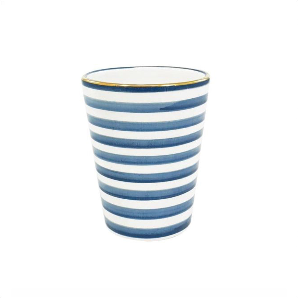 MOROCCAN CERAMIC CUP - BLUE & GOLD