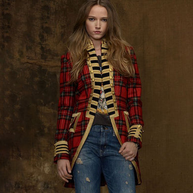 PDS Denim & Supply Long Sleeve Plaid Military Jackets