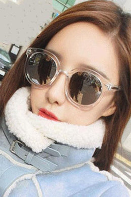 Transparent Color Large Frame Sunglasses