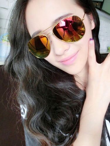 Plain Pilot Dazzling Color Sunglasses