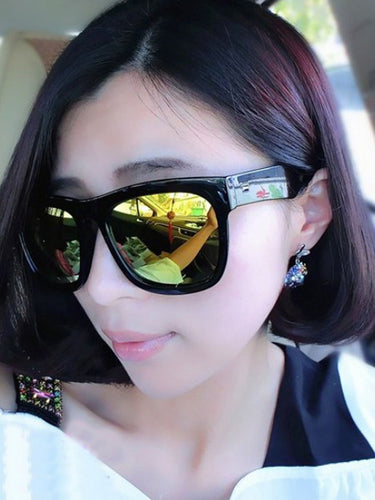 Plain UV Large Frame Sunglasses
