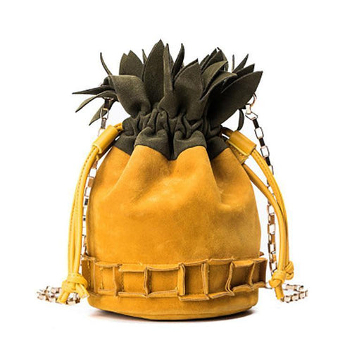 Fashion Personality Pineapple Shape Crossbody Bag - Chicsit