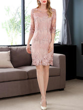 Load image into Gallery viewer, Round Neck  Brocade Bodycon Dress
