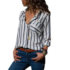 Multi Color Stripe Printed Long Sleeve Shirts