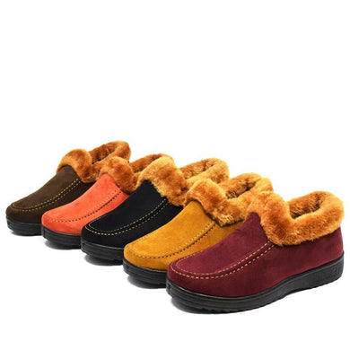 Fur Thick Warm Cotton Boots Winter Mom Snow Shoes