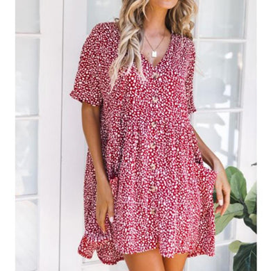 Stylish Sexy Printed Short Sleeves Dress