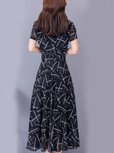Load image into Gallery viewer, Round Neck  Print Maxi Dress
