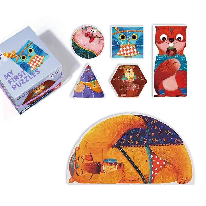 wholesale kids educational puzzles shape animals