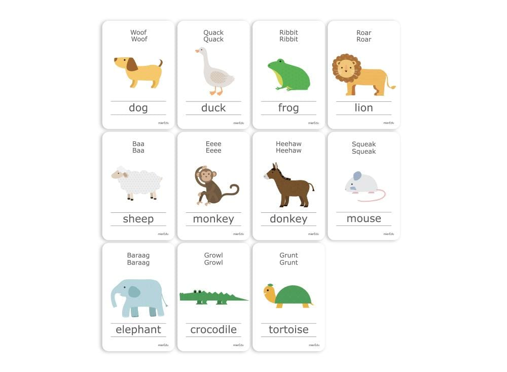Cognitive Flash Cards - Animal Sounds